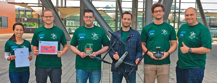 Maschinenbau-Studierenden der Uni Wuppertal beim MultiCopter Cup
