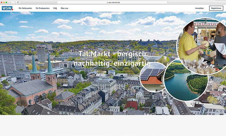 Ökostrom per Mausklick: Die Bedienung der Tal-Markt-Website ist leicht verständlich